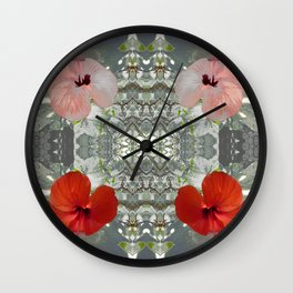 Passion for red_grey symmetry Wall Clock