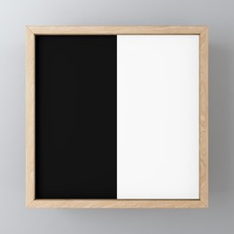 Abstract Black and White Vertical Color Block Framed Mini Art Print