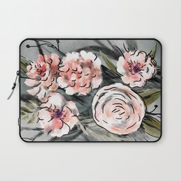 Cream and grey roses bouquet Laptop Sleeve