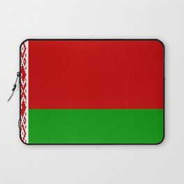 flag of belarus-belarusian,Minsk,Homyel,russia,snow,cold,chess,bear,rus,wheat,europe,easthern europe Laptop Sleeve
