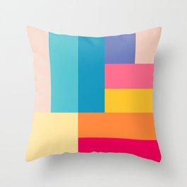 Color Stripes: Bubblegum Pink Throw Pillow