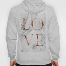 Rose gold marble LOVE Hoody