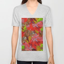 Autumn Fallen Leaves Unisex V-Neck