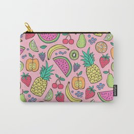 fruit on pink Carry-All Pouch