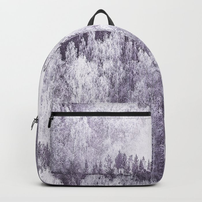 Captivating landscape - beautiful forest in winter colors Backpack