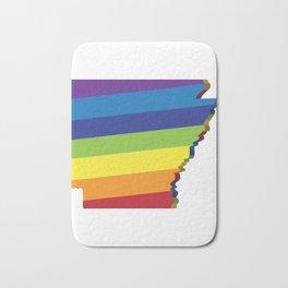 Arkansas Rainbow Flag LGBT Pride Bath Mat