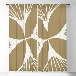 Diamond Series Floral Diamond Twist White on Gold Blackout Curtain