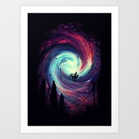 stars Art Prints featuring Adventure Awaits by nicebleed