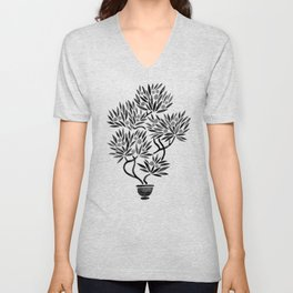 Bonsai Fruit Tree – Black Palette Unisex V-Neck
