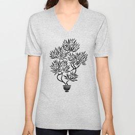 Bonsai Fruit Tree – Black Palette Unisex V-Neck