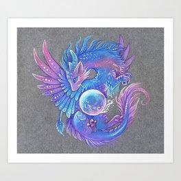 Magic orb dragon Kunstdrucke