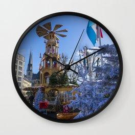 Luxembourg winter turbine Wall Clock