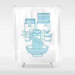Ramen Set Shower Curtain