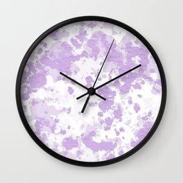 """Purple Cow"" Digital Art Wall Clock"