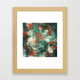 Sixth Mix Blue Framed Art Print