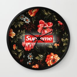 Red flower supreme Wall Clock
