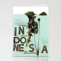 indonesia Stationery Cards featuring Indonesia by Andreas Derebucha
