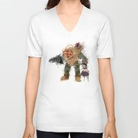 bubbles V-neck T-shirts featuring Bubbles by Melissa Smith