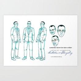 Dean Winters Character Design I Art Print