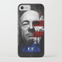 house of cards iPhone & iPod Cases featuring House of Cards by offbeatzombie