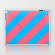 Stripes Diagonal Pink & Blue Laptop & iPad Skin