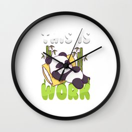 This Is How I Work Lazy Panda Working Pun Wall Clock