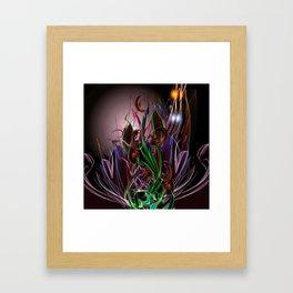 Moonlight Garden Framed Art Print