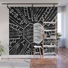 Quantum Computing | Black and White | HODL Collection 2020 Wall Mural