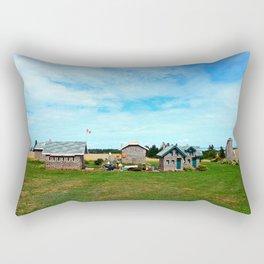 Hannah's Bottle Village Rectangular Pillow