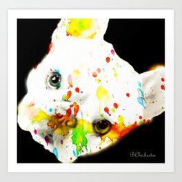 Color Me Frenchie Art Print