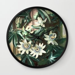 Passion for Passiflora Wall Clock