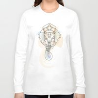 quibe Long Sleeve T-shirts featuring One Line Ganesh by quibe