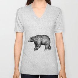Bear ink Unisex V-Neck