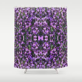 SPANISH LAVENDER AND ONE BEE Shower Curtain
