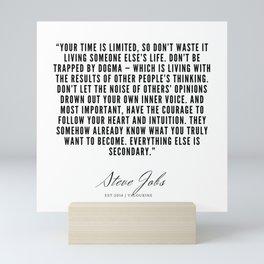 40      Steve Jobs Quotes   190720 Mini Art Print