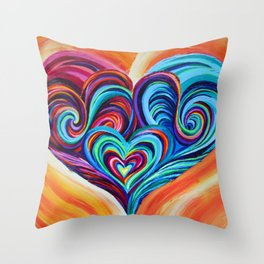 Intertwined Souls Throw Pillow