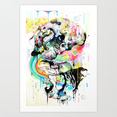Ink Fight Colors Art Print