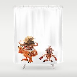 Hairy Monsters Shower Curtain