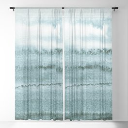 WITHIN THE TIDES - OCEAN TEAL Sheer Curtain