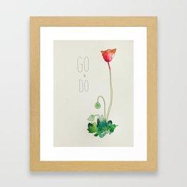Go & Do by: Madelin Woods (#HeyCreateDaily) Framed Art Print