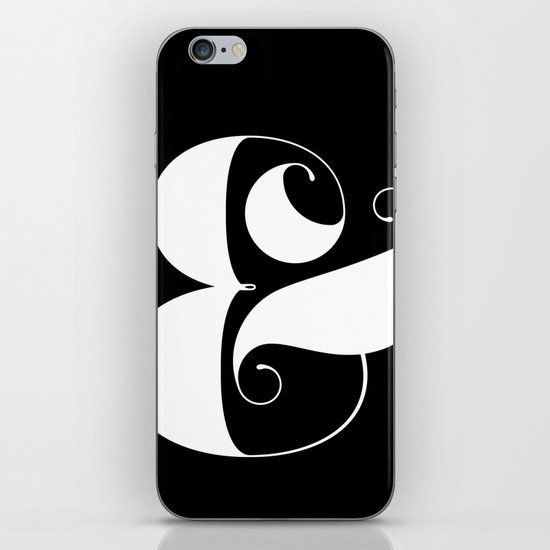 Inverse Ampersand iPhone & iPod Skin
