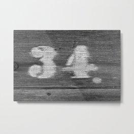 NO 34 Metal Print
