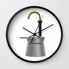Bialetti Mini Express. Vintage Italian coffee maker. Wall Clock
