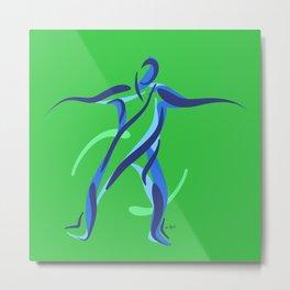 Street Dance (Green) Metal Print