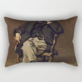 Claude Monet - Dr. Leclenché (1864) Rectangular Pillow