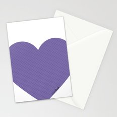 I love you this much... (purple) Stationery Cards