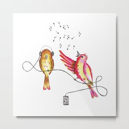Singing bird Metal Print