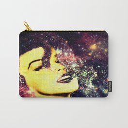 Baby, You're A Star : Magenta Teal Galaxy Carry-All Pouch