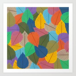 Leaves, Leaves, Leaves - Autumn is Coming - 57 Montgomery Ave Art Print
