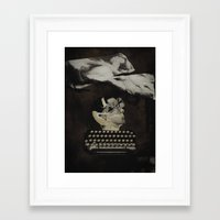 typewriter Framed Art Prints featuring Typewriter by Tom Melsen